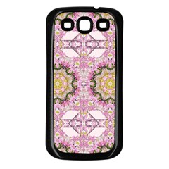 Floral Pattern Seamless Wallpaper Samsung Galaxy S3 Back Case (Black)