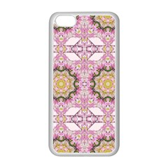 Floral Pattern Seamless Wallpaper Apple iPhone 5C Seamless Case (White)