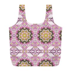 Floral Pattern Seamless Wallpaper Full Print Recycle Bags (L)