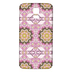 Floral Pattern Seamless Wallpaper Samsung Galaxy S5 Back Case (White)