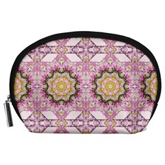 Floral Pattern Seamless Wallpaper Accessory Pouches (Large)