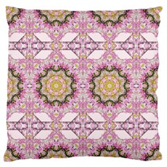 Floral Pattern Seamless Wallpaper Large Flano Cushion Case (One Side)