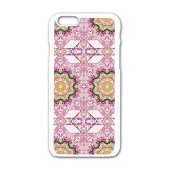 Floral Pattern Seamless Wallpaper Apple iPhone 6/6S White Enamel Case