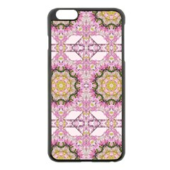 Floral Pattern Seamless Wallpaper Apple Iphone 6 Plus/6s Plus Black Enamel Case