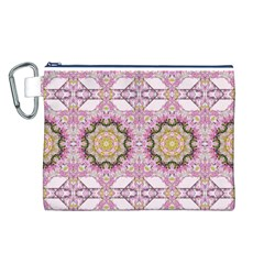 Floral Pattern Seamless Wallpaper Canvas Cosmetic Bag (L)