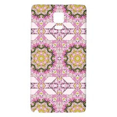 Floral Pattern Seamless Wallpaper Galaxy Note 4 Back Case