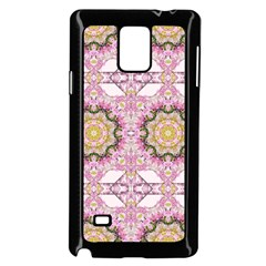Floral Pattern Seamless Wallpaper Samsung Galaxy Note 4 Case (black)
