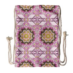 Floral Pattern Seamless Wallpaper Drawstring Bag (Large)