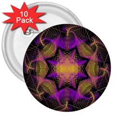 Pattern Design Geometric Decoration 3  Buttons (10 Pack)