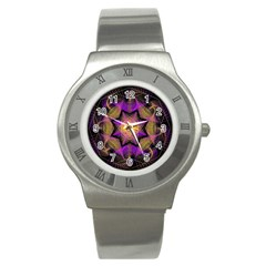 Pattern Design Geometric Decoration Stainless Steel Watch