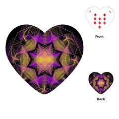 Pattern Design Geometric Decoration Playing Cards (Heart)