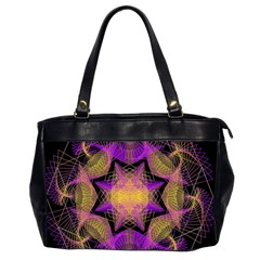 Pattern Design Geometric Decoration Office Handbags (2 Sides)
