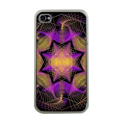 Pattern Design Geometric Decoration Apple iPhone 4 Case (Clear)