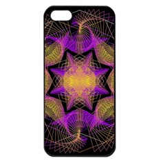 Pattern Design Geometric Decoration Apple iPhone 5 Seamless Case (Black)