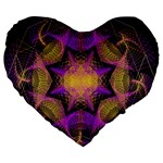 Pattern Design Geometric Decoration Large 19  Premium Heart Shape Cushions Front