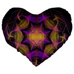 Pattern Design Geometric Decoration Large 19  Premium Heart Shape Cushions Back