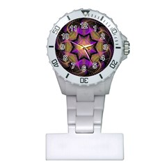 Pattern Design Geometric Decoration Plastic Nurses Watch