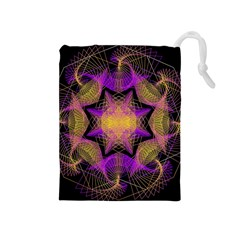Pattern Design Geometric Decoration Drawstring Pouches (Medium)