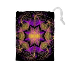 Pattern Design Geometric Decoration Drawstring Pouches (Large)