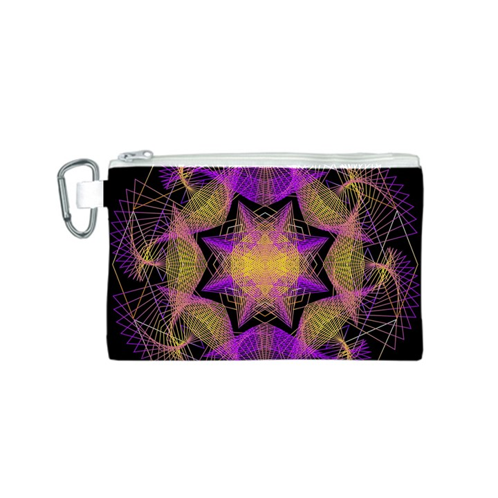 Pattern Design Geometric Decoration Canvas Cosmetic Bag (S)