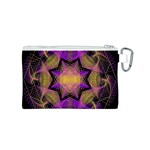 Pattern Design Geometric Decoration Canvas Cosmetic Bag (S) Back