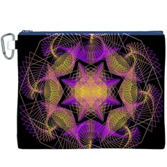 Pattern Design Geometric Decoration Canvas Cosmetic Bag (xxxl)
