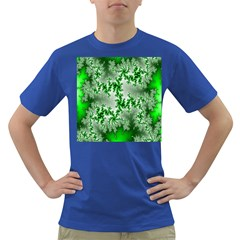 Green Fractal Background Dark T Shirt