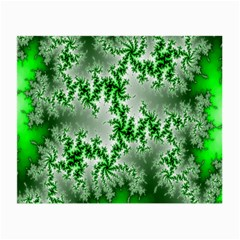 Green Fractal Background Small Glasses Cloth
