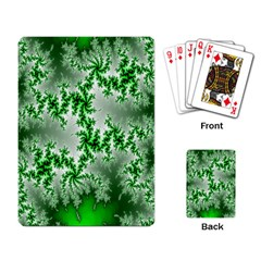 Green Fractal Background Playing Card