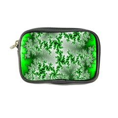 Green Fractal Background Coin Purse