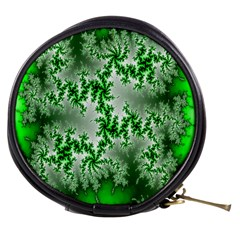 Green Fractal Background Mini Makeup Bags