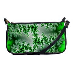 Green Fractal Background Shoulder Clutch Bags
