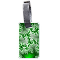 Green Fractal Background Luggage Tags (two Sides)