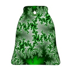 Green Fractal Background Bell Ornament (Two Sides)