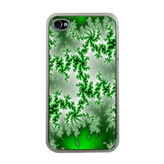 Green Fractal Background Apple iPhone 4 Case (Clear)