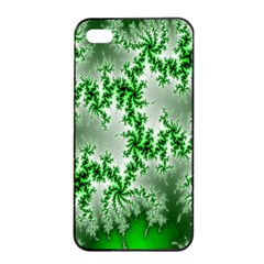 Green Fractal Background Apple iPhone 4/4s Seamless Case (Black)