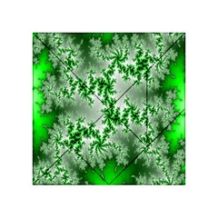 Green Fractal Background Acrylic Tangram Puzzle (4  x 4 )