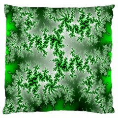 Green Fractal Background Large Cushion Case (Two Sides)