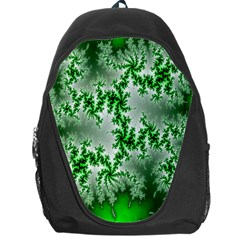 Green Fractal Background Backpack Bag
