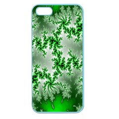 Green Fractal Background Apple Seamless iPhone 5 Case (Color)