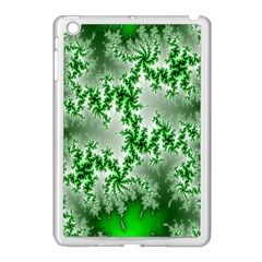 Green Fractal Background Apple iPad Mini Case (White)