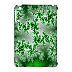 Green Fractal Background Apple iPad Mini Hardshell Case (Compatible with Smart Cover)