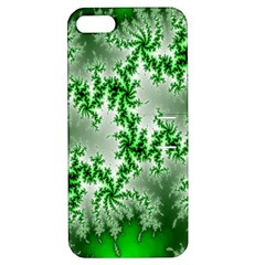 Green Fractal Background Apple iPhone 5 Hardshell Case with Stand
