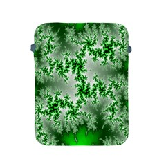 Green Fractal Background Apple Ipad 2/3/4 Protective Soft Cases