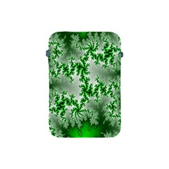 Green Fractal Background Apple iPad Mini Protective Soft Cases