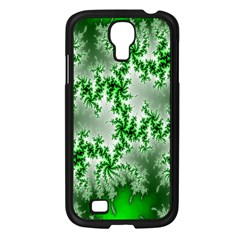 Green Fractal Background Samsung Galaxy S4 I9500/ I9505 Case (black)