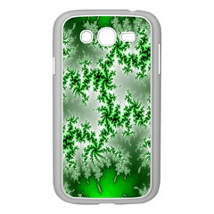 Green Fractal Background Samsung Galaxy Grand DUOS I9082 Case (White)