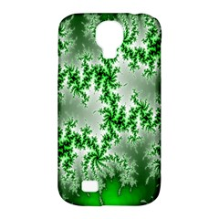 Green Fractal Background Samsung Galaxy S4 Classic Hardshell Case (PC+Silicone)
