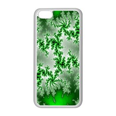Green Fractal Background Apple iPhone 5C Seamless Case (White)