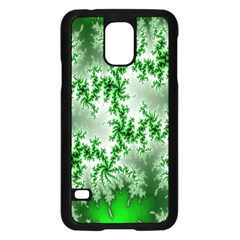 Green Fractal Background Samsung Galaxy S5 Case (Black)